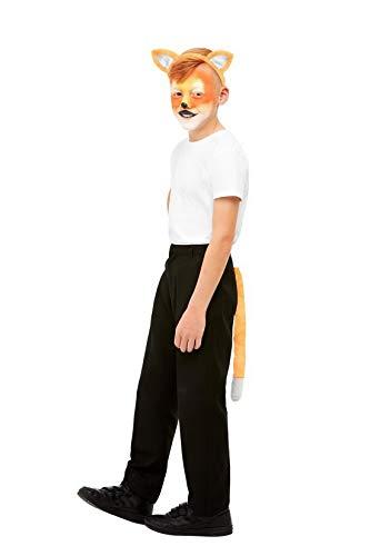 Luxuspiraten - Kostüm Accessoires Zubehör Kinder Schminke Fuchs Set incl. Ohren und Schwanz, Make Up Fox Kit with Ears and Tail, perfekt für Karneval, Fasching und Fastnacht, Braun