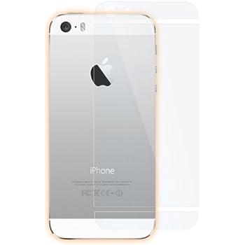 atFoliX Displayschutzfolie Apple iPhone 5S / SE (3er Set) - FX-Antireflex, antireflektierende Premium Folie (3 x dreiteilige Rückseite Schutzfolie ohne LogoCut)