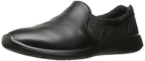 Ecco Damen Soft 5 Slipper, Schwarz (Black/Black), 41 EU (Schwarz Glatt Mokassin)