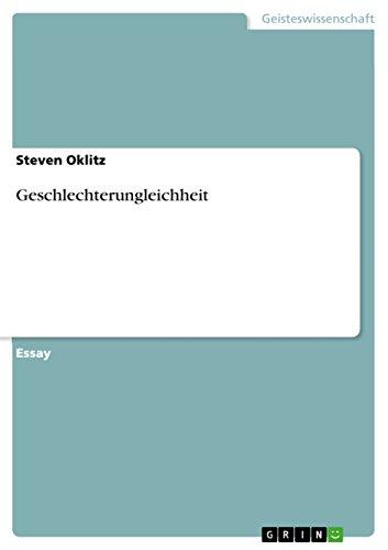 Geschlechterungleichheit (German Edition) por Steven Oklitz