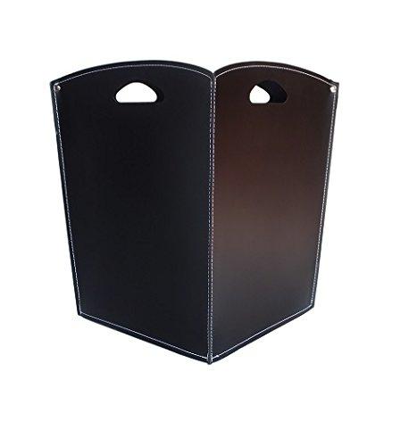 4931611dd4c VENUS  Porte bûches en cuir de couleur Noir