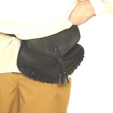 Tasche Pirat für den Gürtel, schwarz
