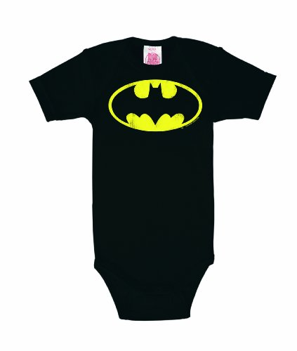Baby Body Batman Logo - tutina da neonato DC Comics - Il supereoe - nero - design originale concesso su licenza - LOGOSHIRT, taglia 98/104, 2-4 anni