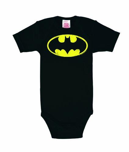 Logoshirt - Batman Baby-Body Kurzarm Junge - DC Comics - Batman - Logo Baby Strampler - schwarz - Lizenziertes Originaldesign, Größe 98/104, 2-4 ()