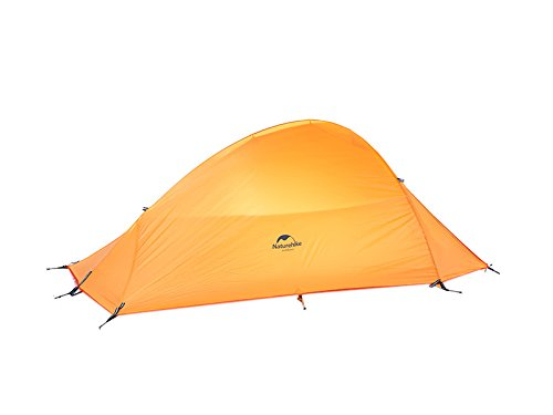 Zelt fur 2 Personen Ultraleicht Wasserdichten Zelt 4 season Double-layer Tent(210T checked fabric,Orange)