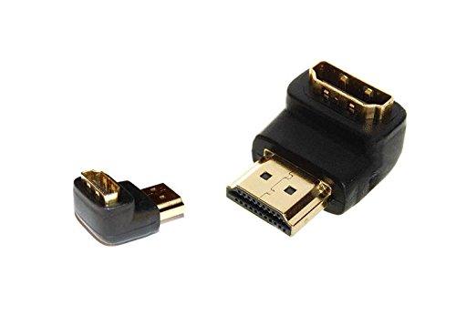 Adapter HDMI Männlich auf weiblich in Form von abgewinkelt ideal Verbindung hinten TV PC.