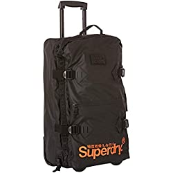 Superdry - Travel Range Large Check In Ca, Mochilas Hombre, Negro (Nero), 37x65x26cm(W x H x L)