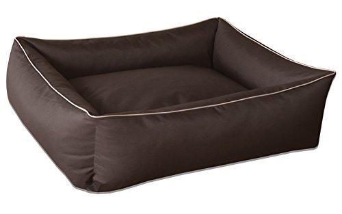 BedDog Hundebett MAX / großes Hundekörbchen aus Cordura / waschbares Hundebett mit Rand / Hundesofa vier-eckig / für drinnen und draußen / XL / CINNAMON / braun
