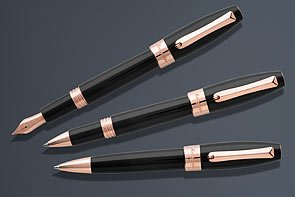 montegrappa-fortuna-rollerball-pen-rose-gold-black