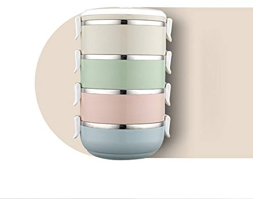 Kunststoff-Vorratsbehälter für Lebensmittel mit Schnappdeckel und luftdichter Lunchbox zur Zubereitung von Mahlzeiten,White,2 -