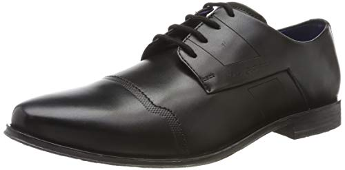 Bugatti 311778011000, Zapatos de Cordones Derby para Hombre, Negro Schwarz 1000, 43 EU
