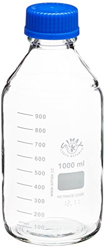 Neolab E 1432 Laboratory 45, ISO Thread Cap and Spout Ring, 1000 ml Bottle (Pack of 10)