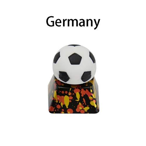 North cool Tastaturknopf-Fußball-Deutsch-Argentinien-Metall Mechanische Tastatur-Schlüsselkappe (Farbe : Germany)