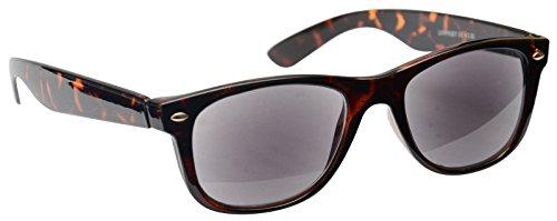 Pretty Smart Glasses Sonne Leser Lesebrille Sonnenbrille Herren Damen Braun Schildpatt UVSR007+ 3,50