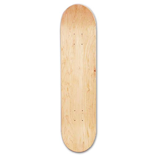 chinejaper Skateboard Deck Control Premium Blank Cruiser Decks 8-Layer Maple Wood Blank Double Concave Skateboards Cruiser Holz Deck (8inch)