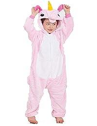 Pijamas de una Pieza de Dibujos Animados Unisex para niños, Pink Nicorn Animal Shape Service