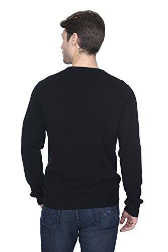 55f85fc79adf ... STATE FUSIO langärmliger Pullover aus Kaschmirwolle mit Rollkragen für  Herren, Premium-Qualität Schwarz ...