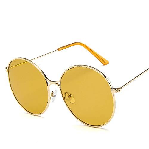 Sonnenbrille, rund, Metall, hohl, Retro-Stil, Punktlack, Sonnenbrille, Sonnenbrille Europa und das Ozean, Blau wie abgebildet
