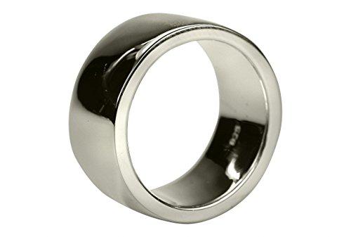 SILBERMOOS Ring Damenring Herrenring Partnerring Ehering glänzend Bandring massiv Sterling Silber 925, Größe:60 (19.1)