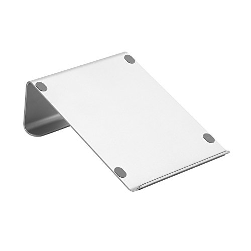 SONGMICS Laptopständer aus Aluminium, ergonomischer Notebookhalter, tragbarer Laptophalter, OMS07SV