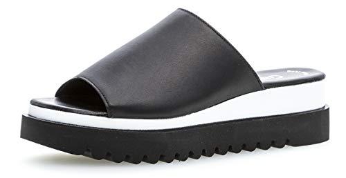 Gabor 23.613 Damen ClogsPantoletten,Clogs&Pantoletten, Frauen,Pantolette,Hausschuh,Pantoffel,Slipper,Slides,Best Fitting,schwarz,5 UK