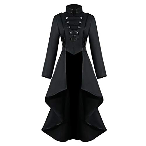 Kostüm Schwangere Baby Alien - Innerternet Damen Langarm-Mantel Frack Jacke Gothic Gehrock Mode Steampunk Button Lace Retro-Smoking Männer Uniform Halloween Kostüm Party Oberbekleidung Plus Size