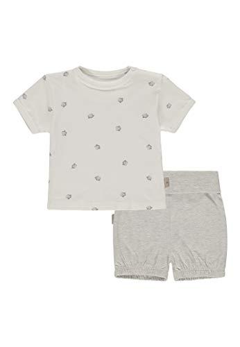 Bellybutton mother nature & me Unisex Baby 2tlg. T-Shirt 1/4 Arm, Short Zweiteiliger Schlafanzug, Mehrfarbig (Allover|Multicolored 0003), (Herstellergröße: 74)