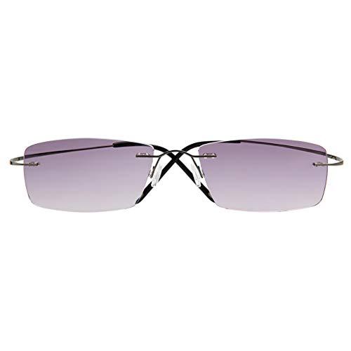Lesebrille Ultraleichte, Sonnenblende HD für ältere Menschen, komfortable Sonnenbrille aus reinem Titan (+ 1.0, 2.5, 3.0)