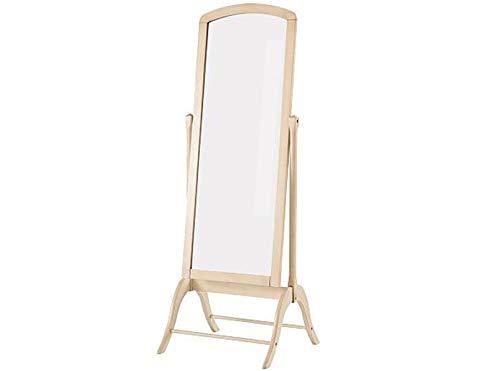 Loft24 Quila Standspiegel Ganzkörperspiegel Spiegel Ankleidespiegel Creme weiß Flur Garderobe Landhaus Vintage MDF