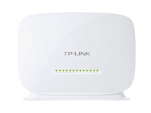 TP-Link Wireless N VoIP VDSL/ADSL Modem Router, 1 USB, 2.0 Port, einfache Installation, Kindersicherung, UK-Stecker (TD-VG5612) (Xp Motherboard)