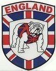 England Englische Bulldogge in Schild-Form Aufkleber für Fenster, Auto, Vinyl, selbstklebend