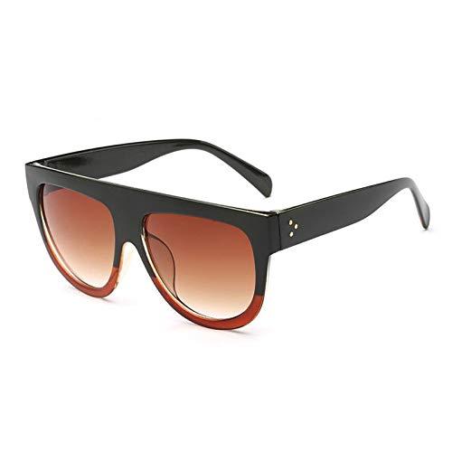 Aprigy - Mode-Marken-Frauen Sonnenbrille Luxuxmarken Designer Vintage-Sonnenbrille große Rahmen-Art-Brillen für Frauen Brillen gafas [J]