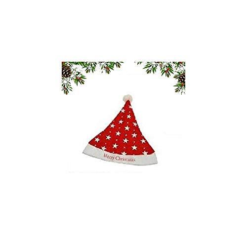 TrAdE shop Traesio Cappellino Cappello Babbo Natale per Bambini con Stelline