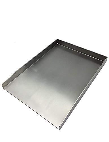 tradeNX Grillplatte | Plancha | Grillblech | Massiv | Edelstahl (40x30cm)