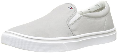 Tommy Hilfiger Damen METALLIC Light Weight Slip ON Sneaker, Grau (Diamond Grey 001), 40 EU Diamond Sneaker