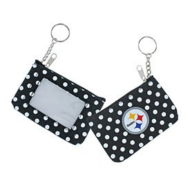 NFL Pittsburgh Steelers Coin/ID Purse, Polka Dots