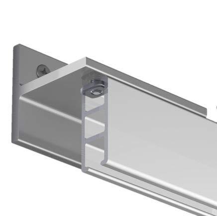 Gardineum 200 cm Innenlaufschiene, alle Längen bis 4,60 m möglich, Vorhangschiene, Gardinenschiene, Aluminium, weiss