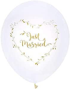 20 Serviettes en Papier Cocktail Just Married Blanc et Or m/étallis/é 1001decotable
