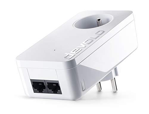 Devolo 9291 dLAN 550 Duo+, Prise Résau CPL (500 Mbit/s via CPL, 1x Adaptateur, 2x Ports Fast...