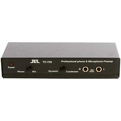 Fixapart PRE AMP-MIC - Amplificador de audio (RCA, 220V, 12V, 125 x 305 x 70 mm, 734g) Negro