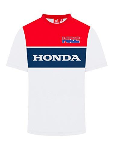 Whybee 2019 Racing HRC MotoGP - Maglietta da Uomo, Colore: Bianco/Rosso/Blu, Infradito Colorati Estivi, con finte Perline, Mens (S) 98cm/39 inch Chest