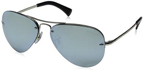 Rayban Herren Sonnenbrille 3449 Green Mirror Silver, One size (59)