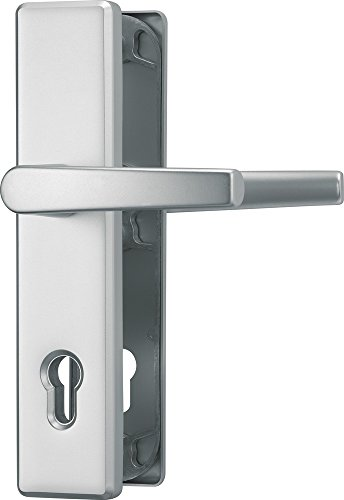 ABUS Tür-Schutzbeschlag HLS214 F1, mit beidseitigem Drücker, aluminium 21035