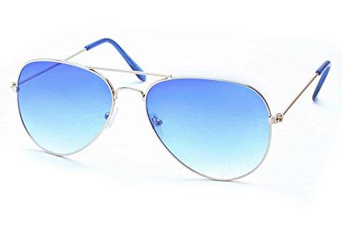 Stacle UVA/UVB Protected Aviator Unisex Sunglasses (ST5203 58 Blue)
