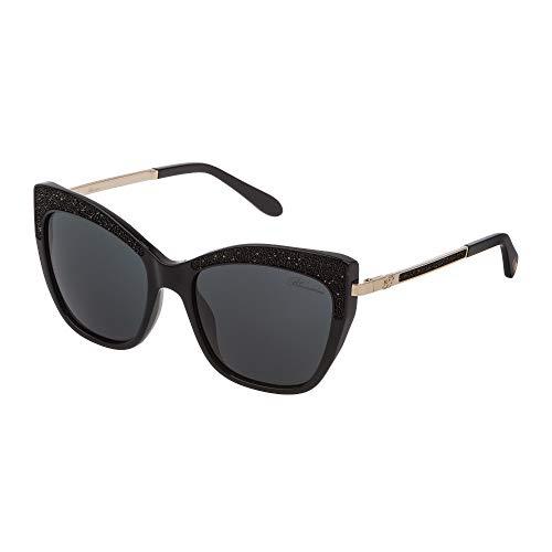 Blumarine occhiali da sole donna nero lucido lenti smoke sbm746 0700 55-18-135