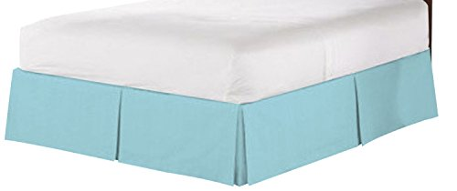 Clara Clark COLLECTION massiv Bett Rock Staub Rüsche, aqua light blau, Twin (Twin Bedskirt Blau)