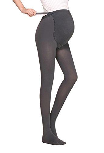 Oliked Damen Schwangerschaft Strumpfhose 180 Gr Grey