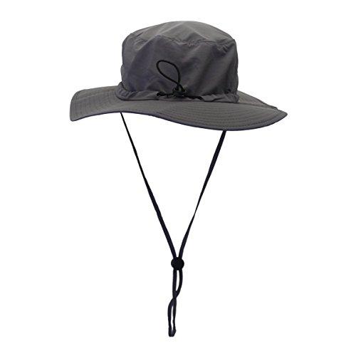 NOVPEAK Outdoor UPF 50+ Protección Solar Sombrero Boonie Impermeable ala Ancha Transpirable Caza Pesca Safari Sun Hat