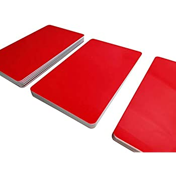 1-100 St/ück 50 Blanko Rohlinge NEU! PVC Karten ROT MATT Premium Plastikkarten