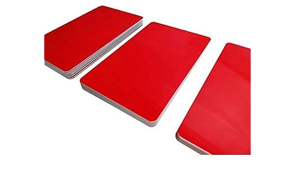 5/ vergini 100/Premium carte carte di plastica//pvc rosso 85 x 54 x 0,76 mm Rot Carta per stampante Neu senza righe /500/pezzi